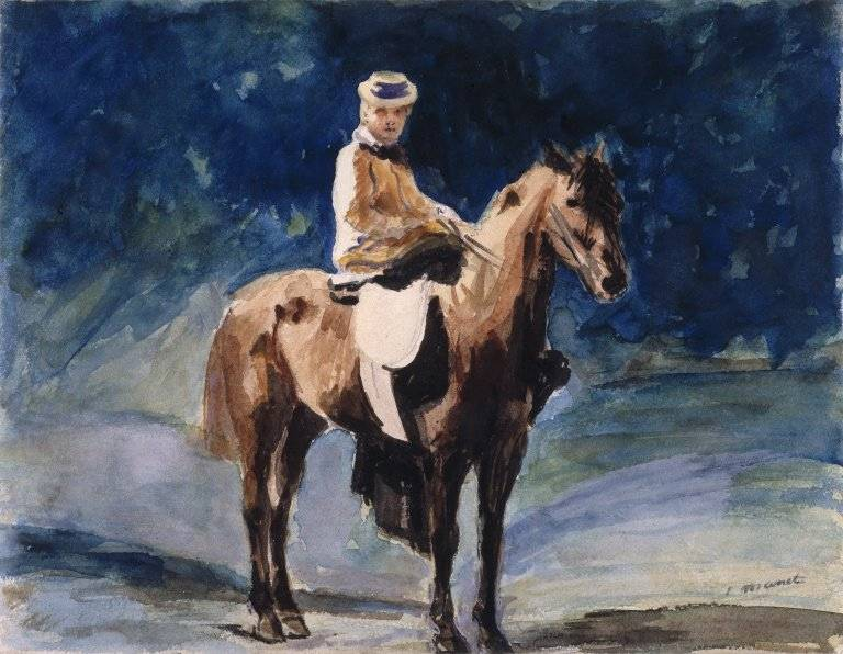 Édouard Manet's The Equestrienne on view at Brooklyn Museum.