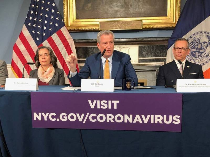 Bill de Blasio, newspapers, COVID-19, Coronavirus, Dr. Oxiris Barbot, Dr. Raul Perea-Henze