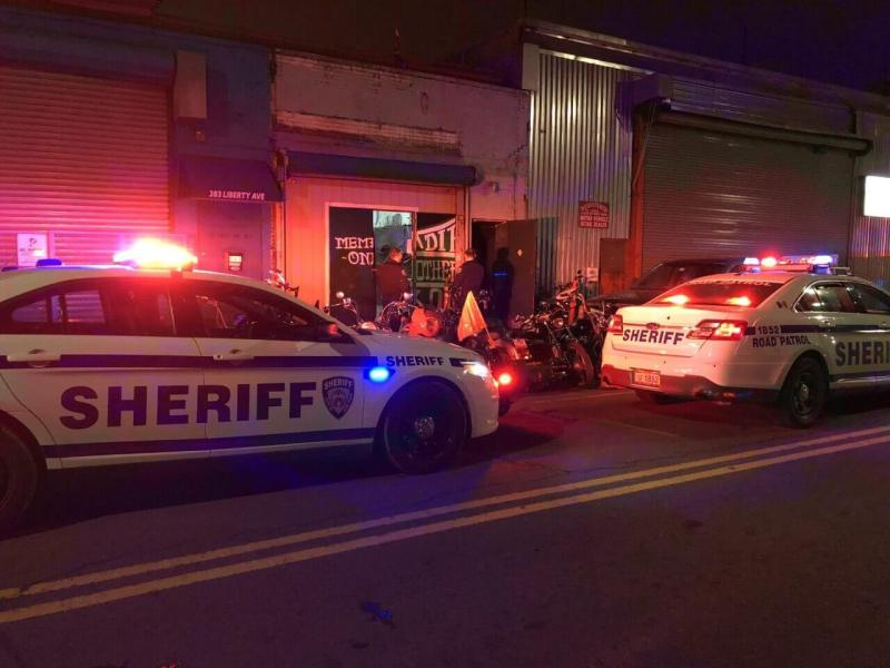 Sheriff's office breaks up 200-person party at East New York biker club