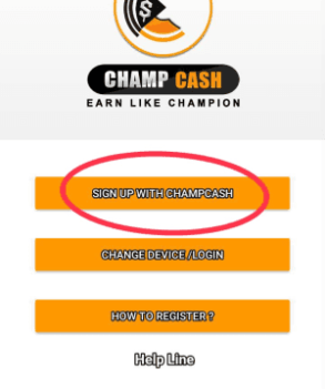 champcash Sign Up