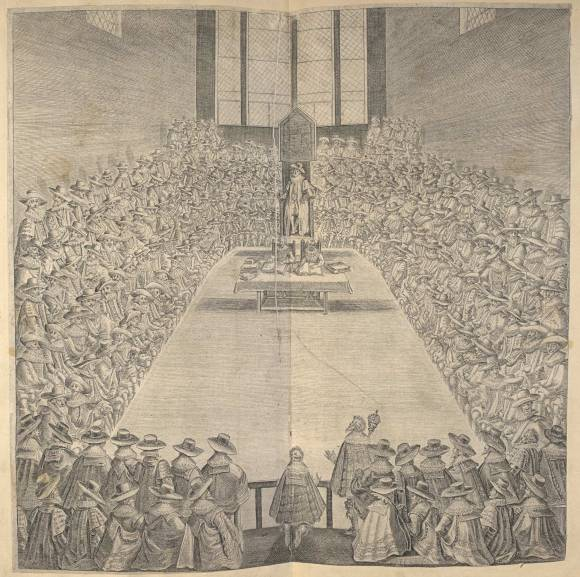 Image of the House of Commons, from True Platforme and Manner of the Sitting in the Lower House of Parliament