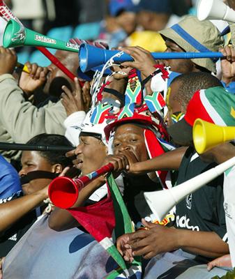 vuvuzelas en plena acción