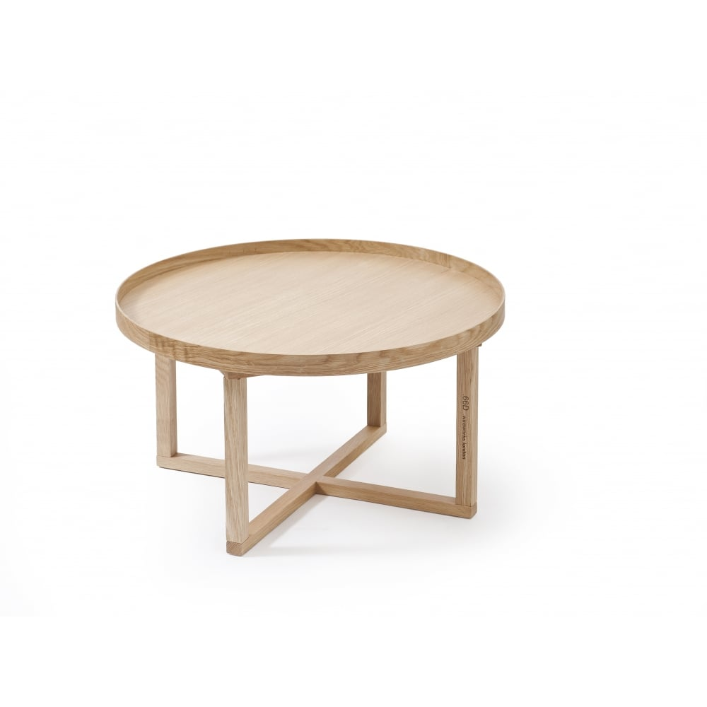 wireworks 66d round coffee table oak