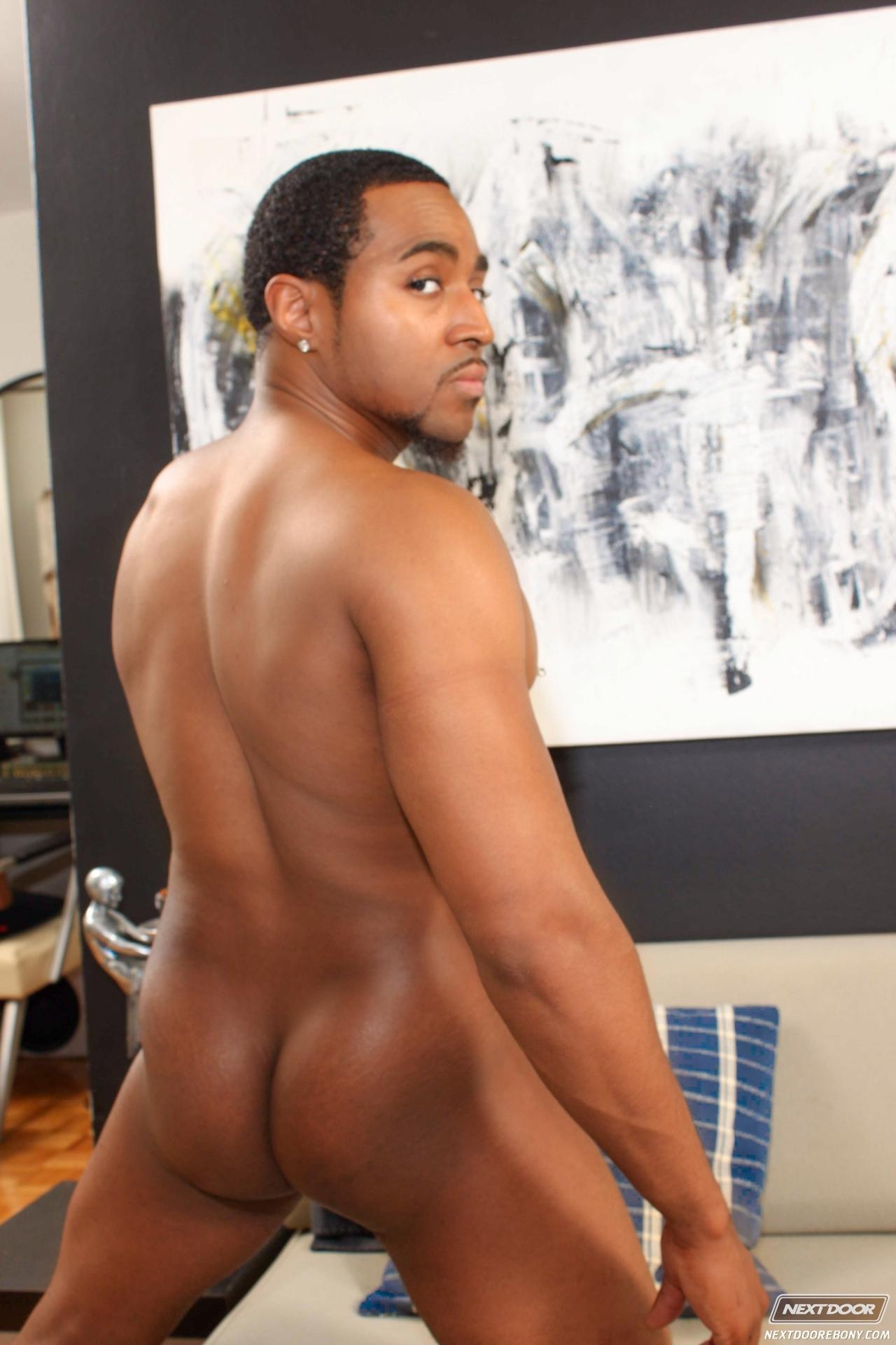 naked black butt
