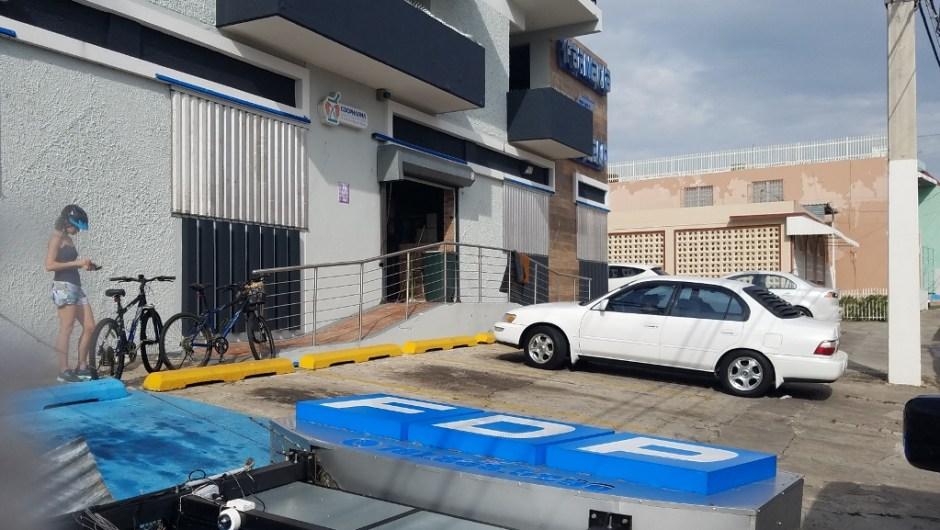 the aftermath of hurricane maria - at the farmacia del pueblo aguada puerto rico