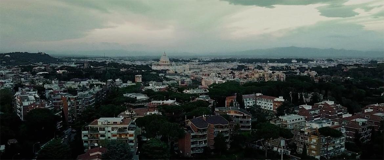Vista di Roma con il drone