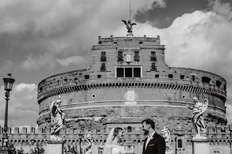 Passeggiata Sposi Castel Sant'Angelo