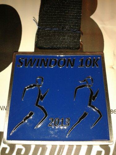 Swindon 10K medal