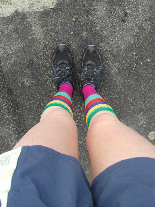 Rockin' the shorts and long socks look
