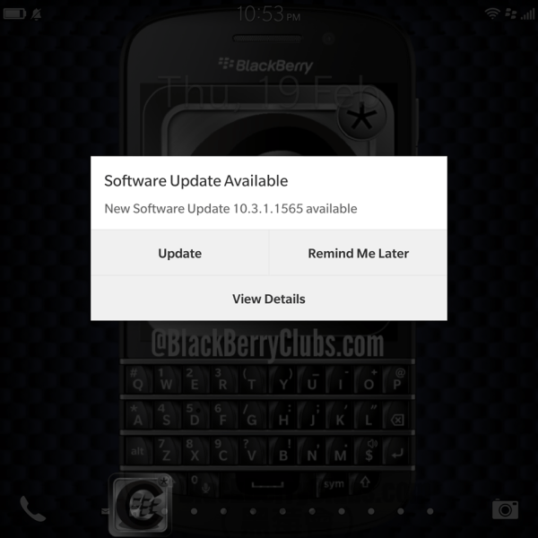 BlackBerry Passport get BlackBerry OS 10.3.1 OTA update_2