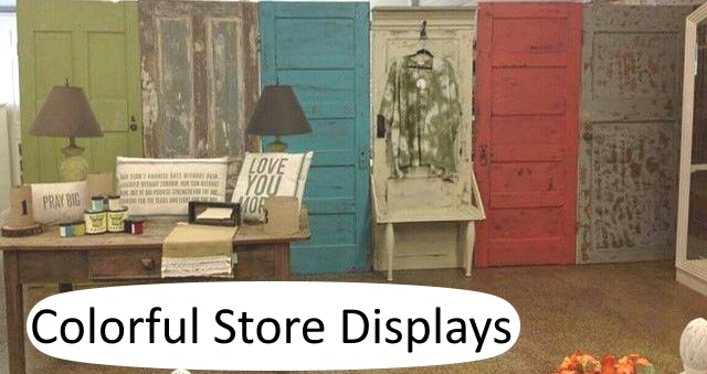 Store display at Shabby Remakes in Clinton, TN