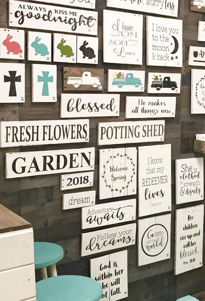 Signs painted in Blackberry House Paint colors, by Anchored Soul Designs, Smyrna, Tn