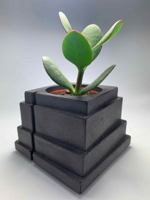 BLACKBETON - ARTISANAT D'ART - Collection végétale - TALOUL - S - béton gris