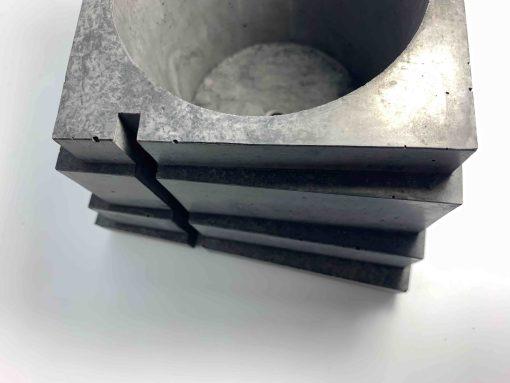BLACKBETON - ARTISANAT D'ART - Collection végétale - TALOUL - béton gris