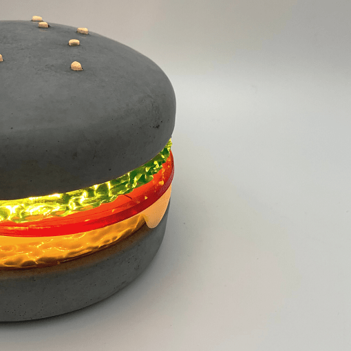 MARCELLUS - lampe burger en béton - BLACKBETON