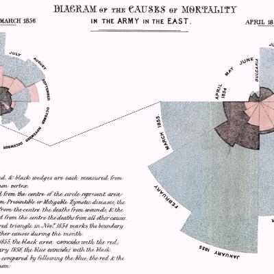 Datavisualisatie van Florence Nightingale