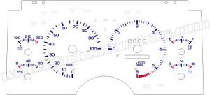 Black Cat Custom Automotive  Chevy S10  Xtreme  Blazer Gauge Faces  LED Lighting Kit