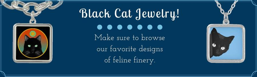 Black Cat Gifts Jewelry Banner