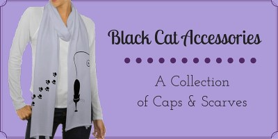 Black Cat Hats and Scarves
