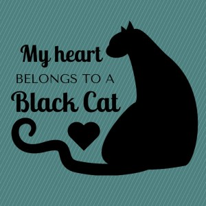 My Heart Belongs to a Black Cat Design