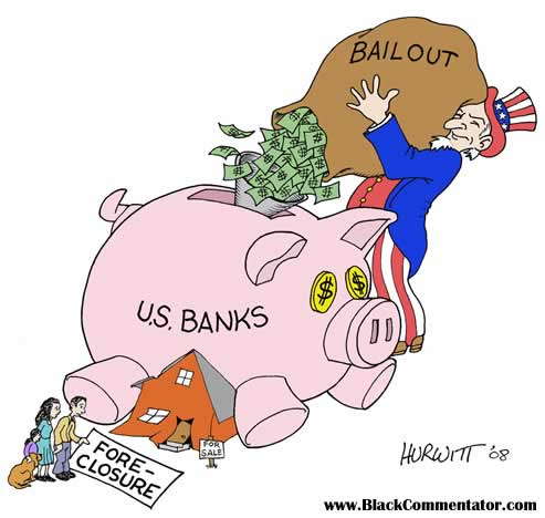 United States bank bailout, cartoon