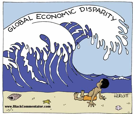 Economic crisis, cartoon by Hurwitt