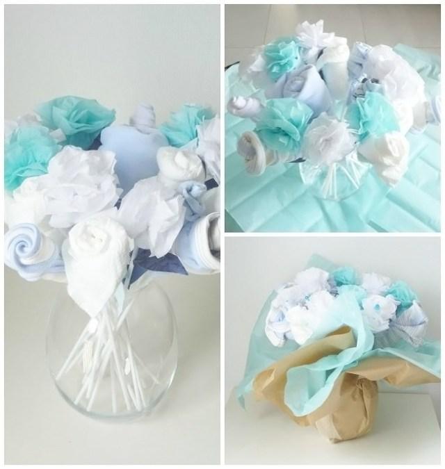 Bouquet de layette pour une naissance