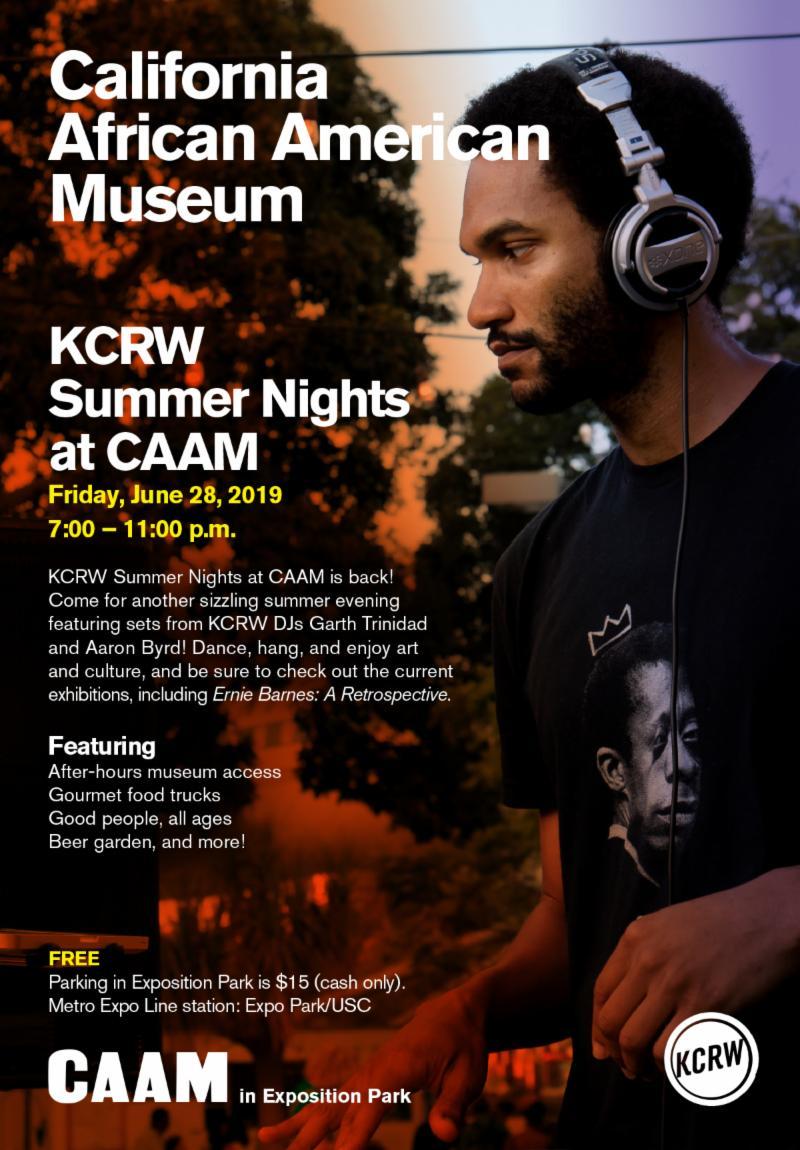 KCRW Summer Nights @CAAM with DJs Garth Trinidad and