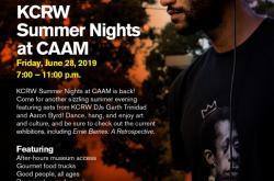 KCRW Summer Nights @CAAM with DJs Garth Trinidad and Aaron Byrd