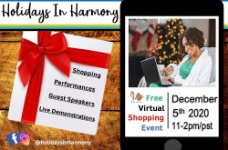 "Holidays In Harmony: A Virtual ""Sit & Shop"""