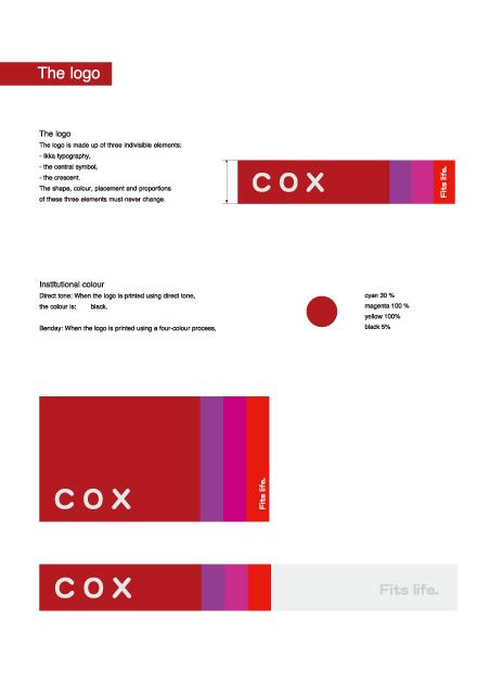 COX ファッションブランド CI・VI計画