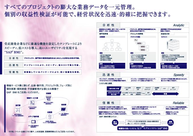 NTTデータ SAP A4製品パンフレット 中面見開き