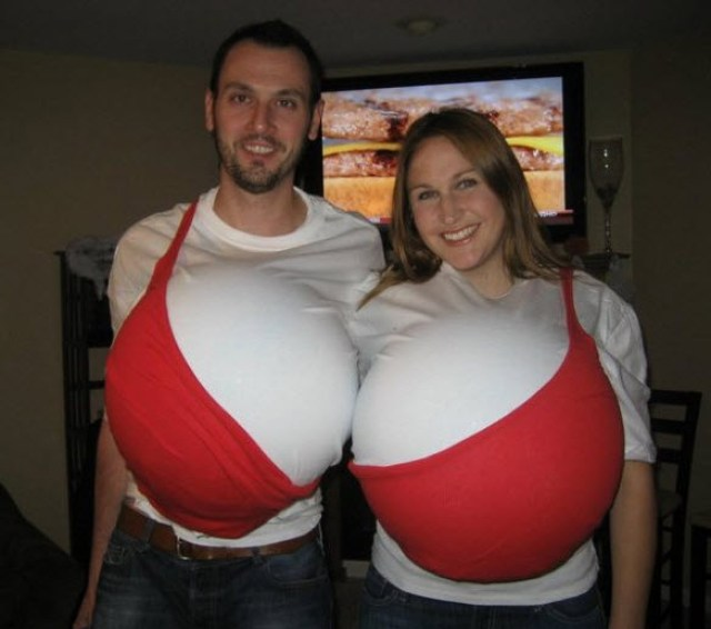 Boobs-Bra Couple Halloween Costume