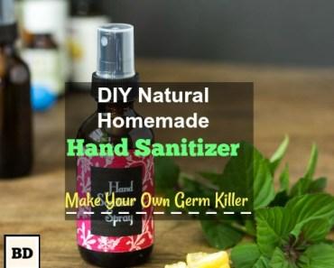 DIY Natural Homemade Hand Sanitizer | Make Your Own Germ Killer