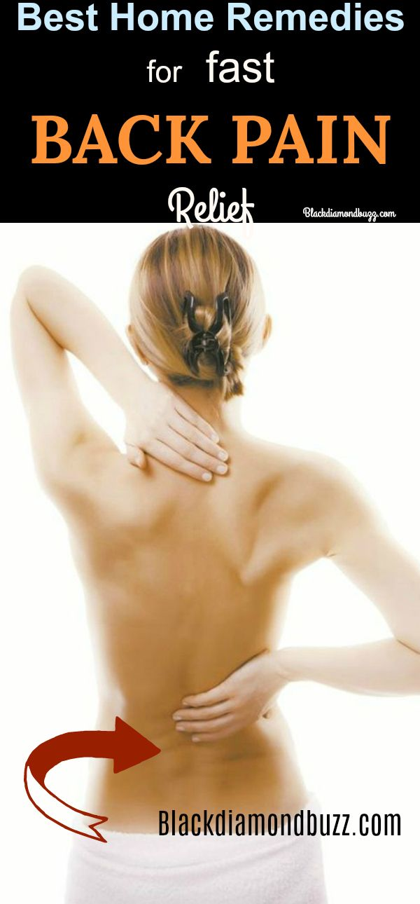 best home remedies for back pain