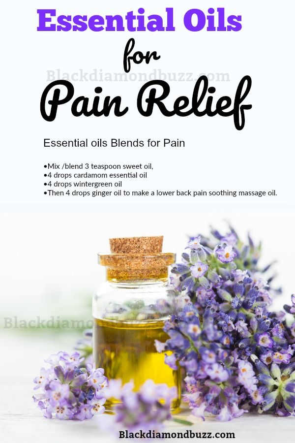 Essential oils Blends for Pain Relief