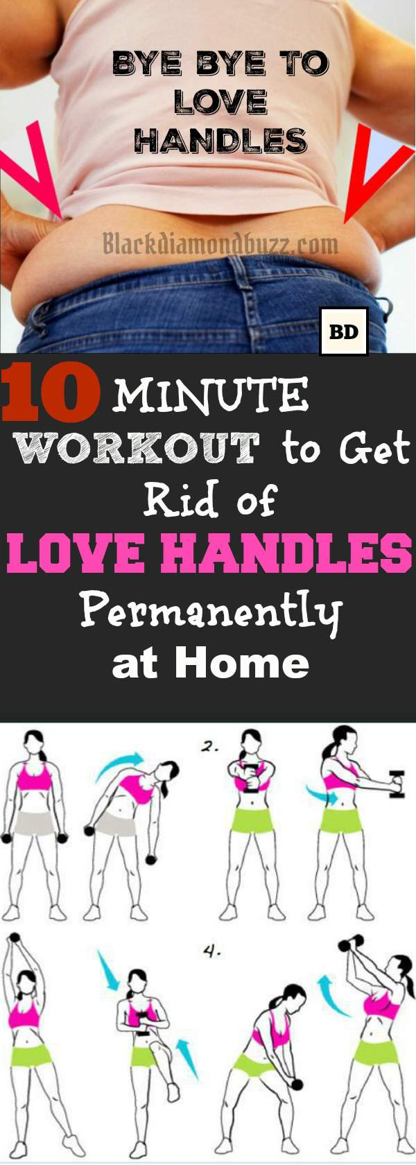 exercises for getting rid of side fat