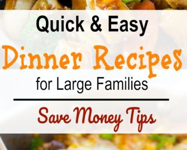 Do you want to feed a family of 6 or more on $50 a week?Then here are 20 frugal meals for large families on a tight budget with quick and easy dinner recipe