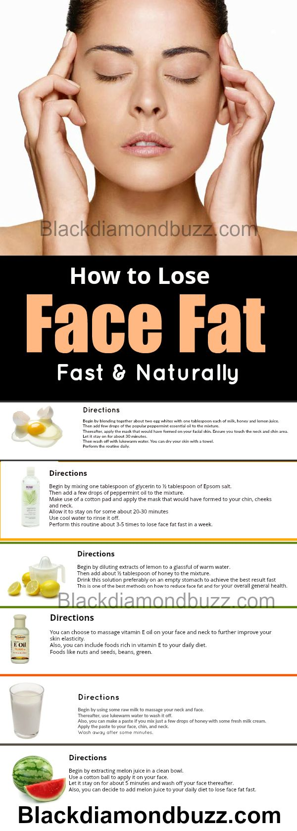 how to lose fat on your face and neck