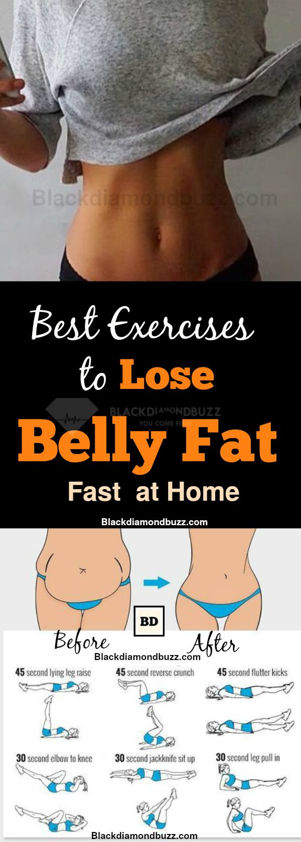 Exercises to Lose Belly Fat Fast- 10 Belly Fat Burning Exercises