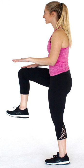 Knee Lift-Exercises to Lose Belly Fat- 10 Belly Fat Burning Exercises