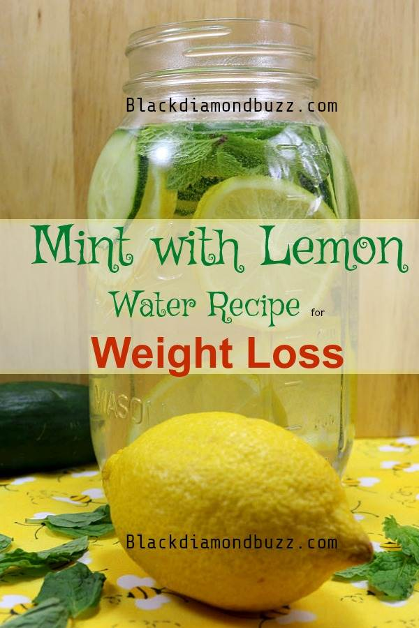 Mint with Lemon Recipe Water for Weight Loss