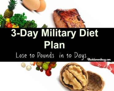 Military Diet Plan: 3 Days Diet for Weight Loss and Flat Stomach
