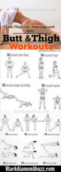 8 Best Butt and Inner Thigh Exercises to Lose Thigh Fat ...