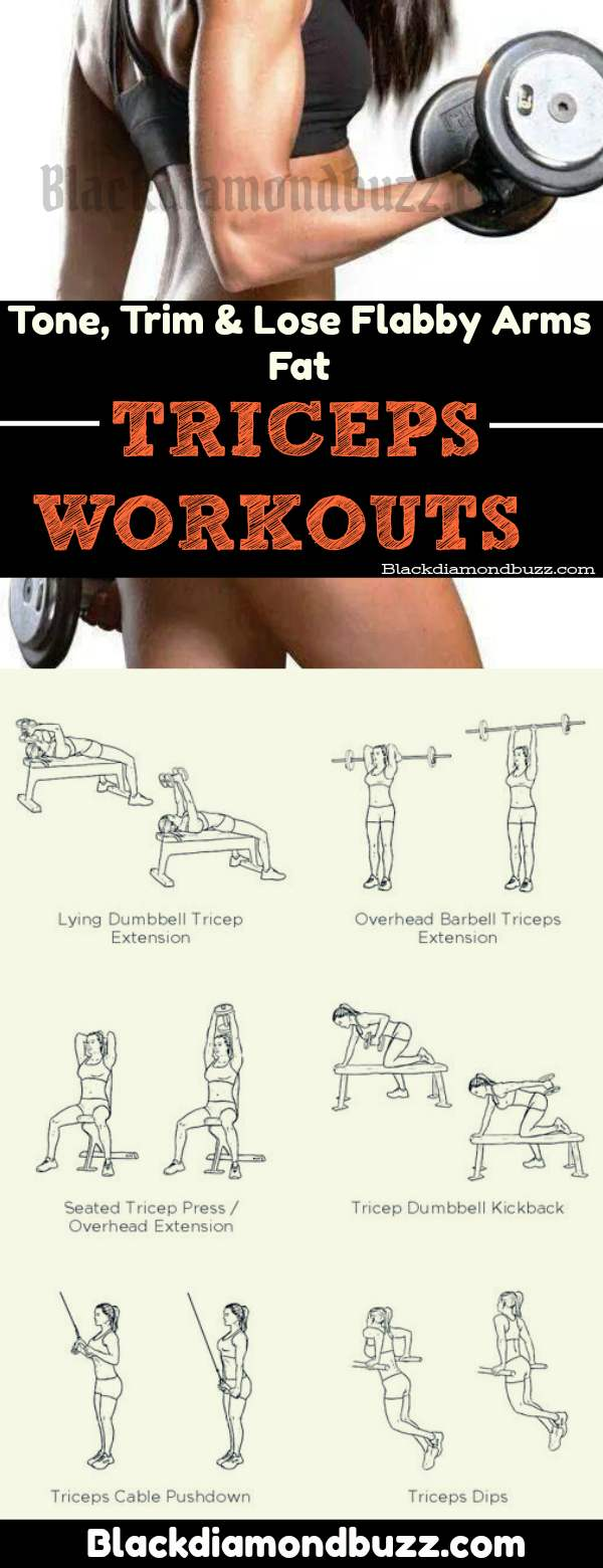 Best Triceps Exercises for Women to Tone, Trim and Lose Flabby Arms Fat