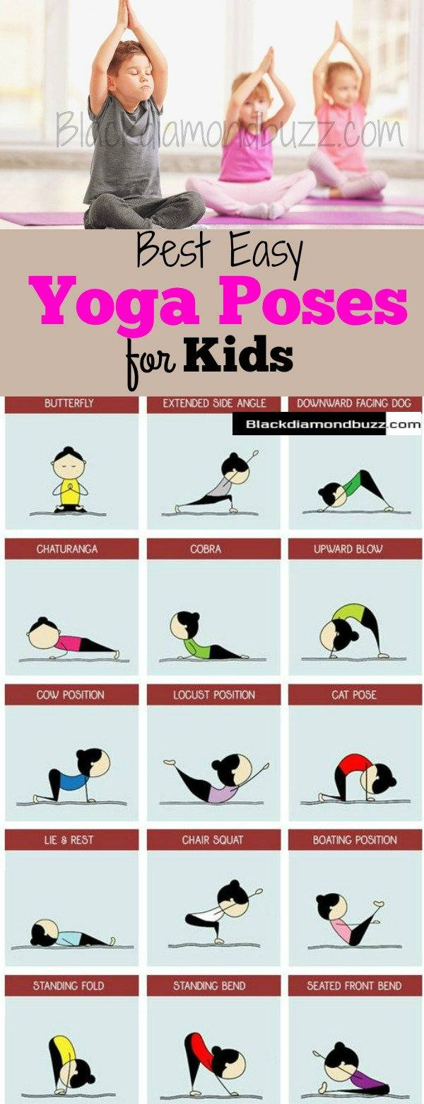 Yoga Poses For Kids -  5 Easy Best Yoga Poses Safe For Your Kids