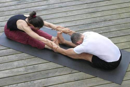 Easy Yoga Poses For Two People Challenge Partner Friends And Lovers