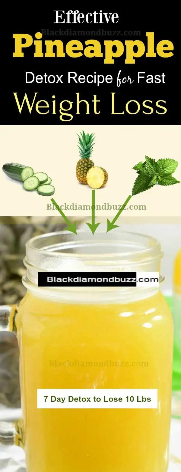 Pineapple for Weight Loss - Pineapple Juice Detox Diet Drink Recipe