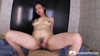 Black-haired Asian babe loves to get fucked