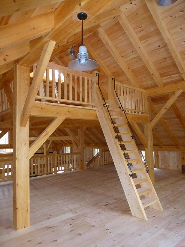 36 X 54 Timber Frame Barn Black Dog Timberworks